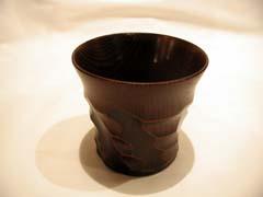 喜多方 漆器蔵会津野 木製欅はつりカップ