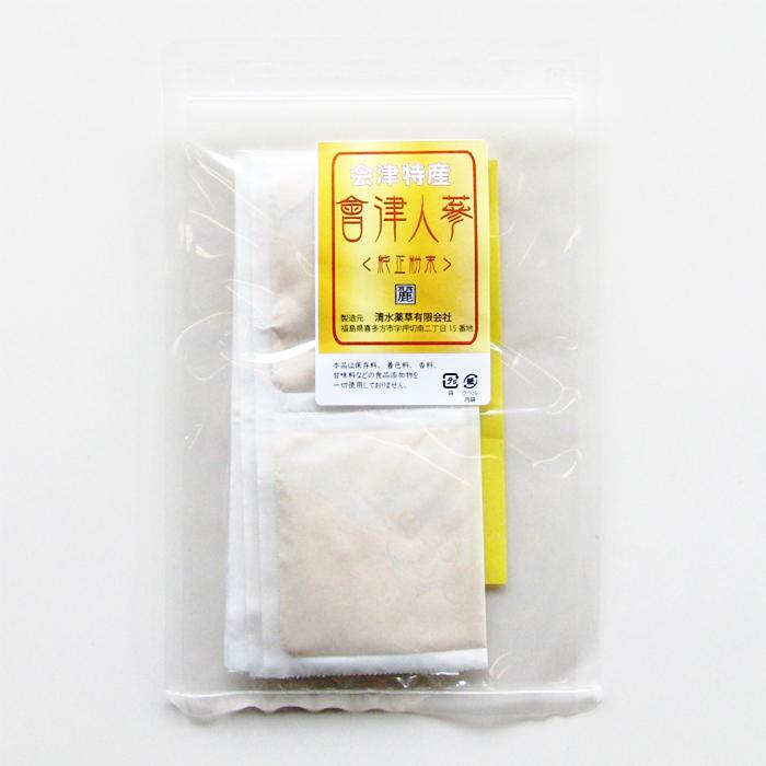 会津特産會津人蔘 純正粉末10g(1g×10パック)